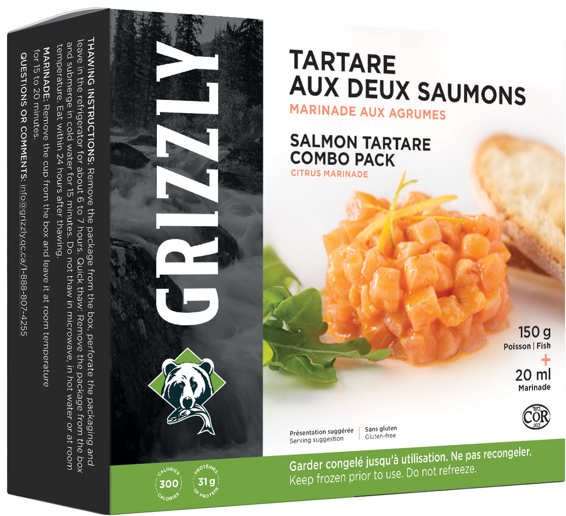 Salmon tartare combo pack