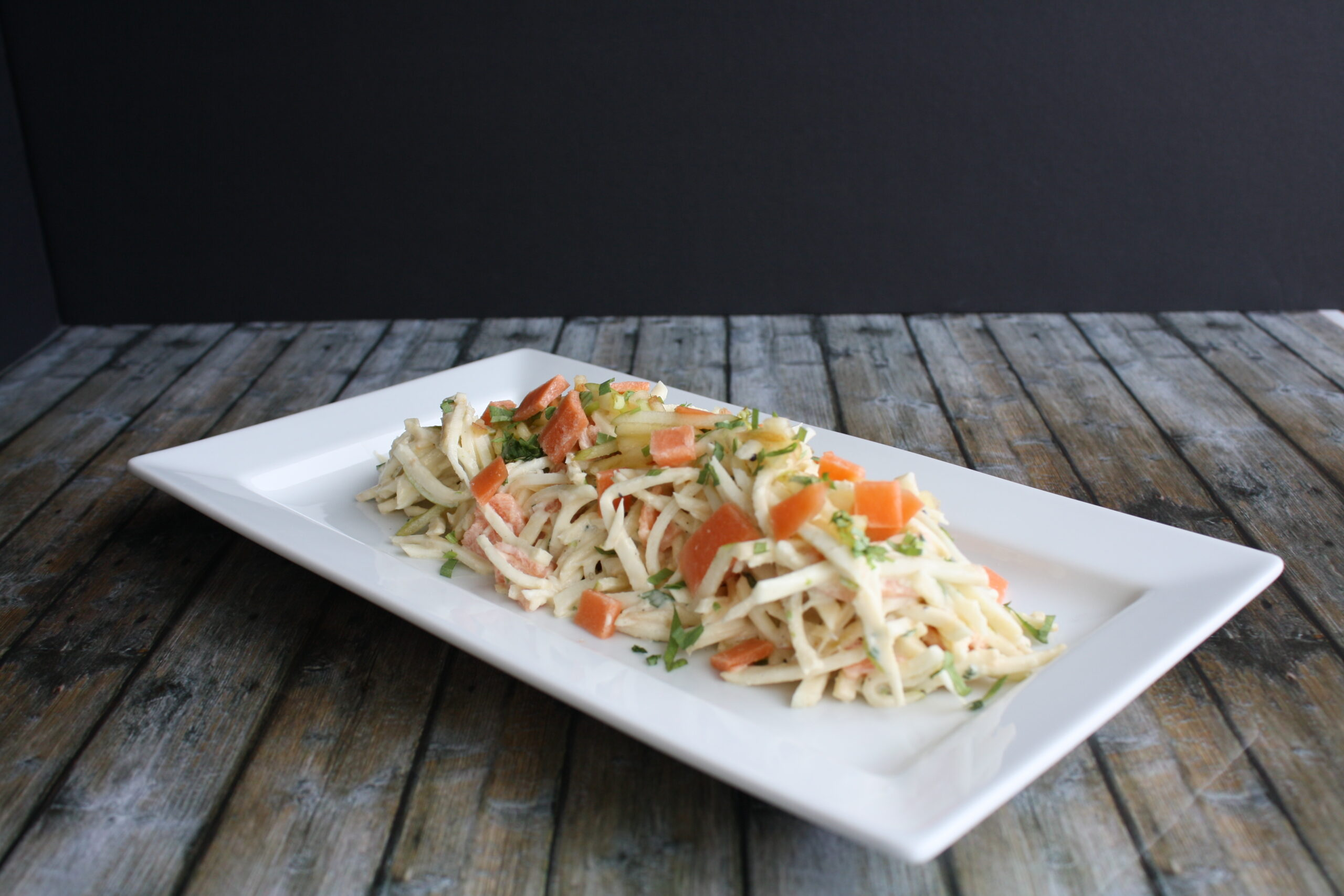 Celeriac Salad and Smoked Trout