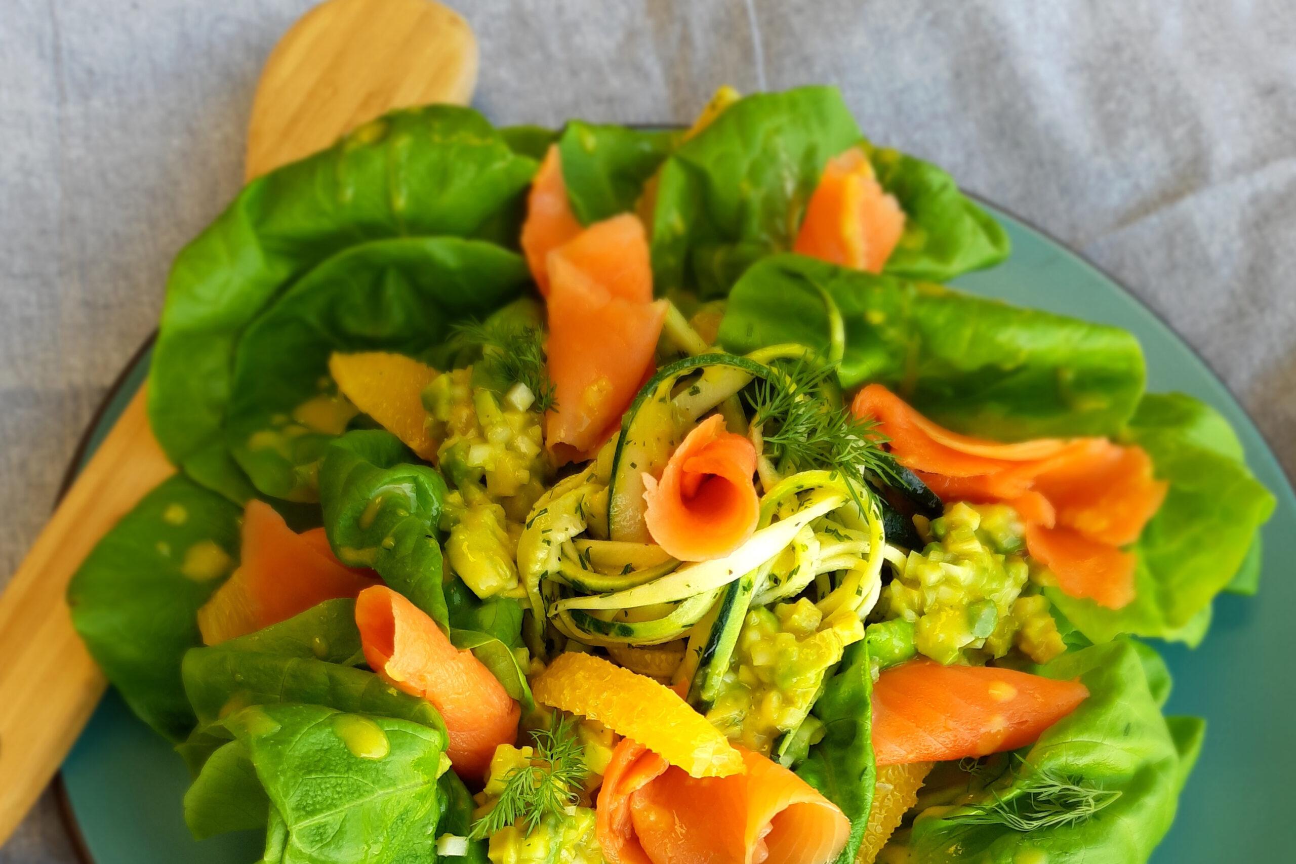Salade de saumon fumé Coho