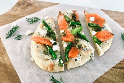 Pizza de saumon arc-en-ciel au Citron & Aneth